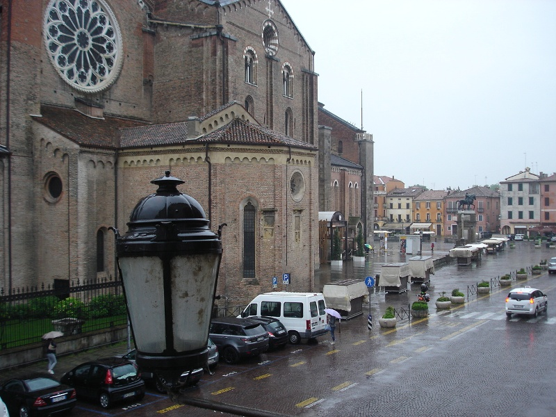 We arrived to a wet Padua
