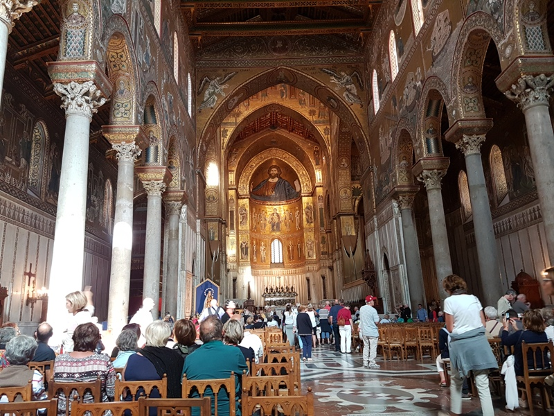 15. inside the Cathedral created by King William II.