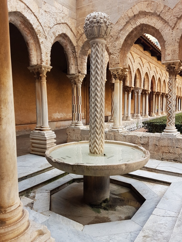 20. The fountain in the cloisters